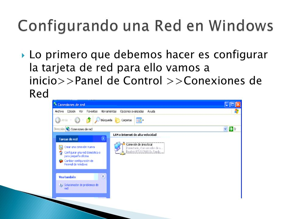 Configurando una Red en Windows