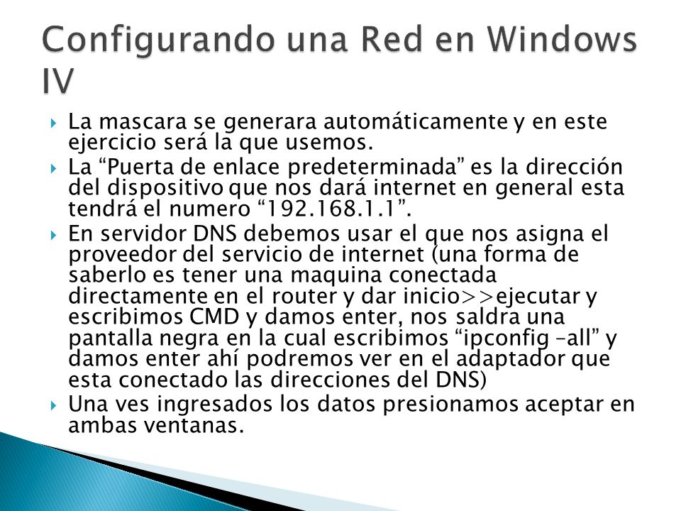 Configurando una Red en Windows IV