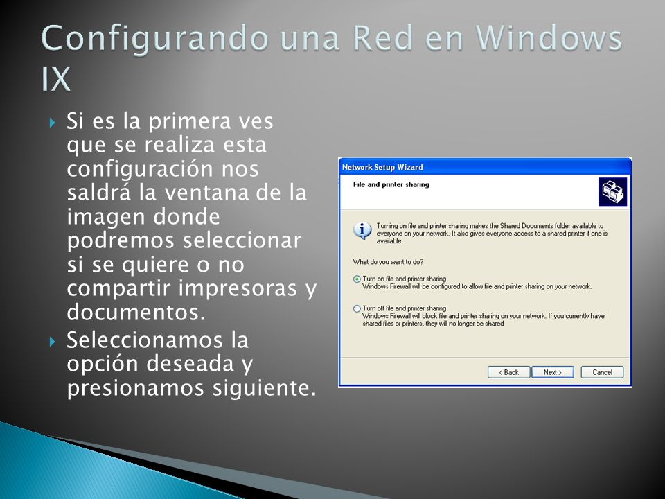 Configurando una Red en Windows IX