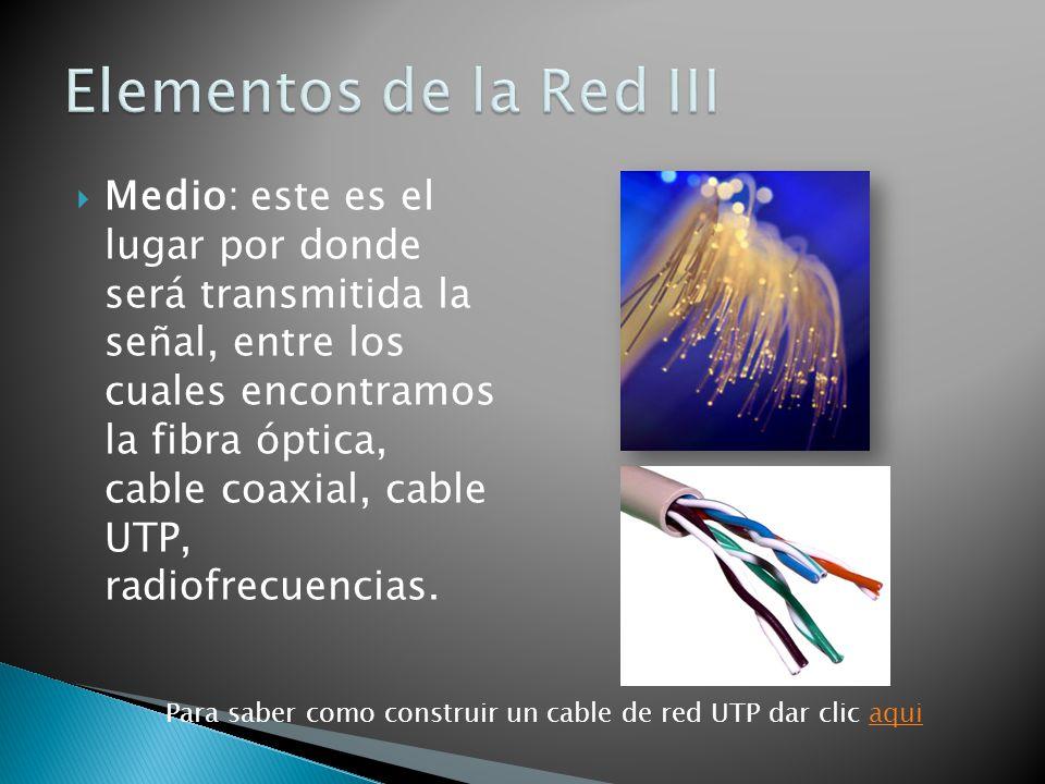 Elementos de la Red III