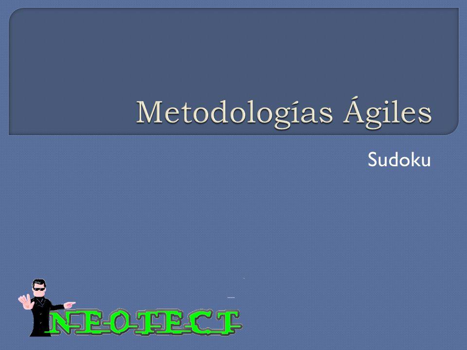 Metodologías Ágiles Sudoku