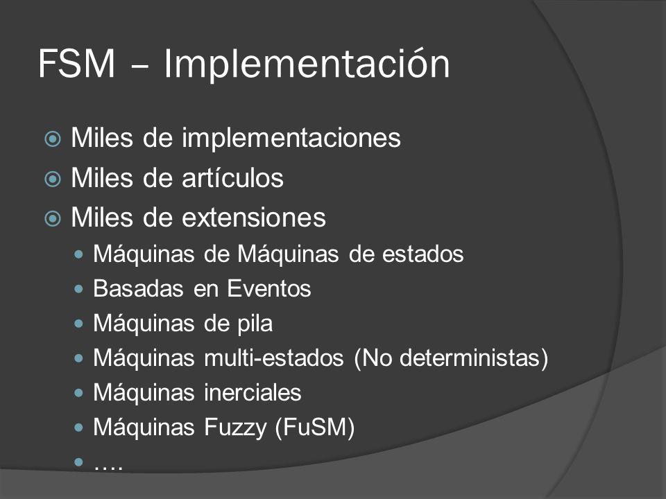FSM – Implementación Miles de implementaciones Miles de artículos