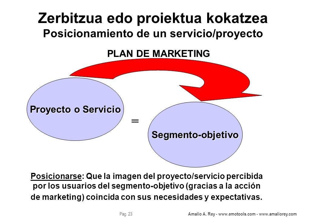 Zerbitzua edo proiektua kokatzea Posicionamiento de un servicio/proyecto
