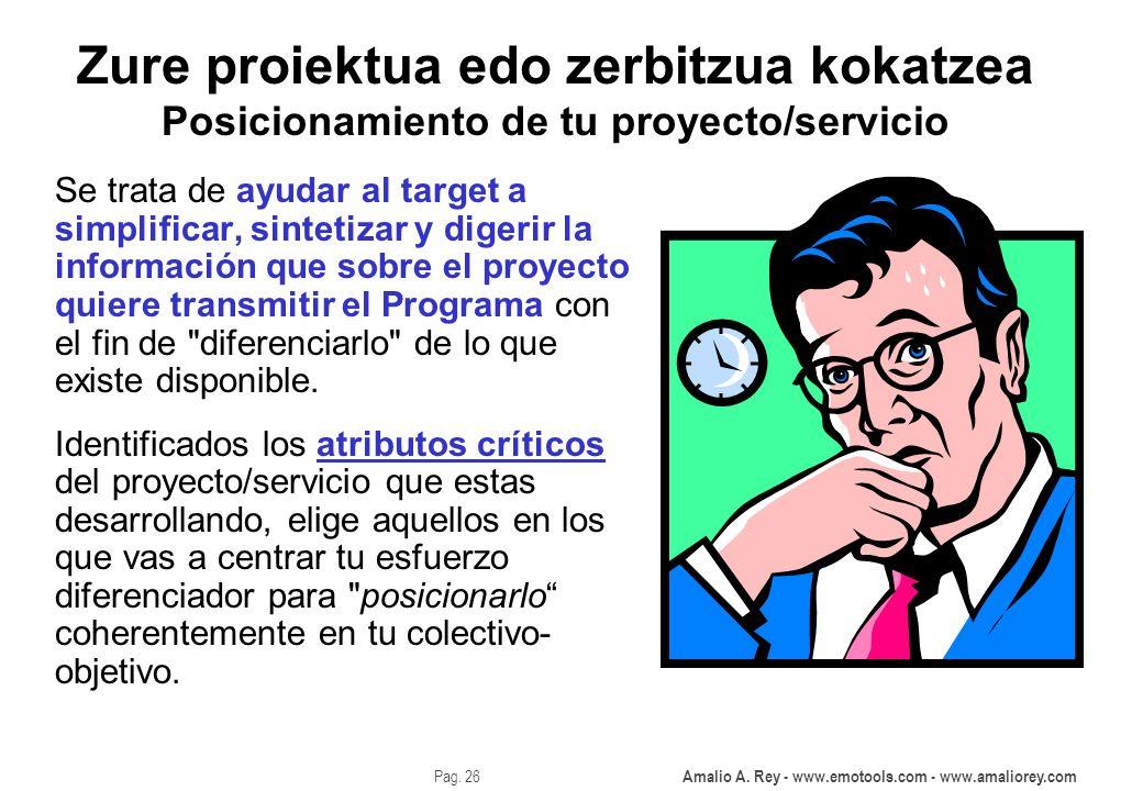 Zure proiektua edo zerbitzua kokatzea Posicionamiento de tu proyecto/servicio