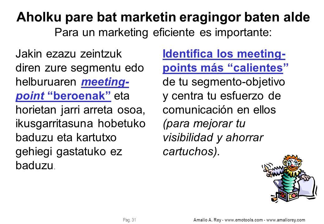 Aholku pare bat marketin eragingor baten alde Para un marketing eficiente es importante: