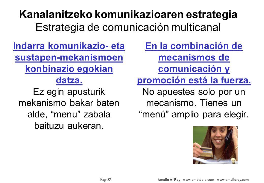 Kanalanitzeko komunikazioaren estrategia Estrategia de comunicación multicanal