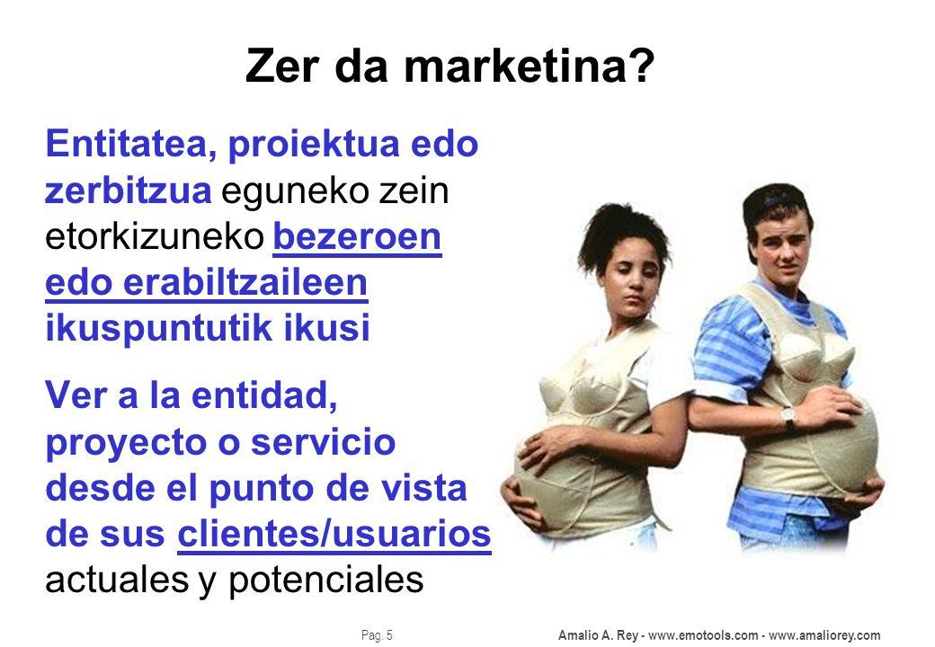 Zer da marketina Entitatea, proiektua edo zerbitzua eguneko zein etorkizuneko bezeroen edo erabiltzaileen ikuspuntutik ikusi.