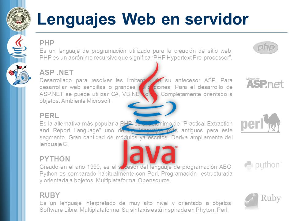 Lenguajes Web en servidor