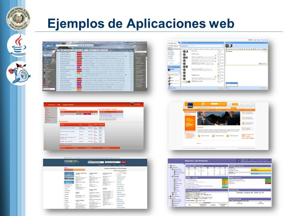 Ejemplos de Aplicaciones web
