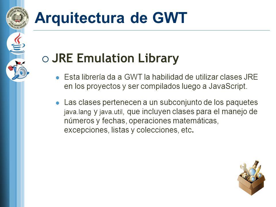 Arquitectura de GWT JRE Emulation Library