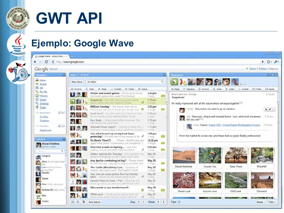 GWT API Ejemplo: Google Wave