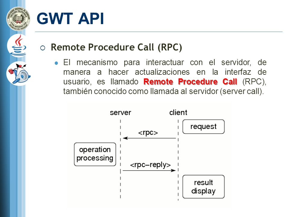 GWT API Remote Procedure Call (RPC)