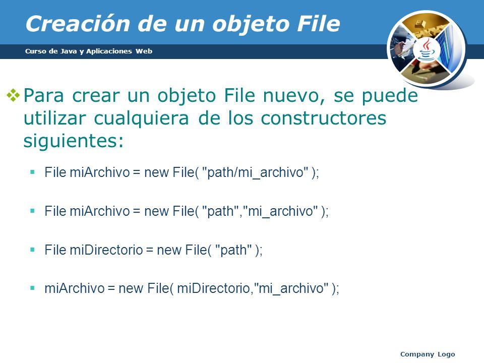 Creación de un objeto File