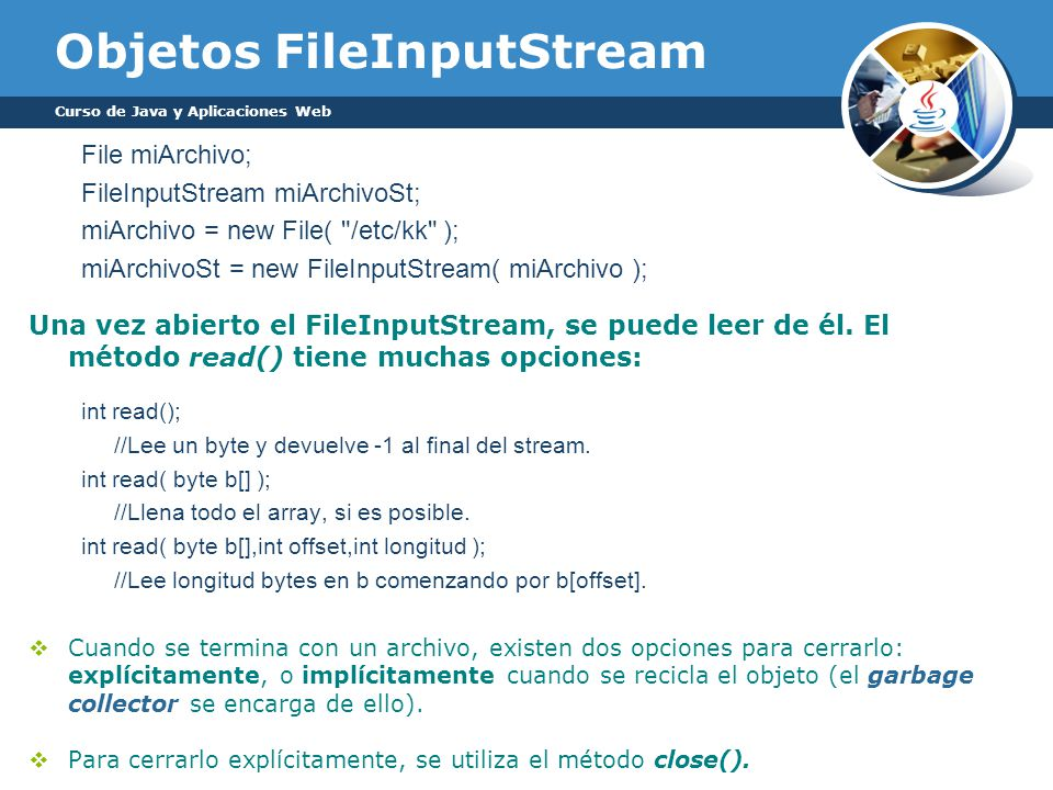Objetos FileInputStream