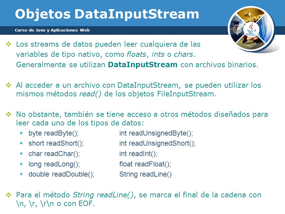 Objetos DataInputStream