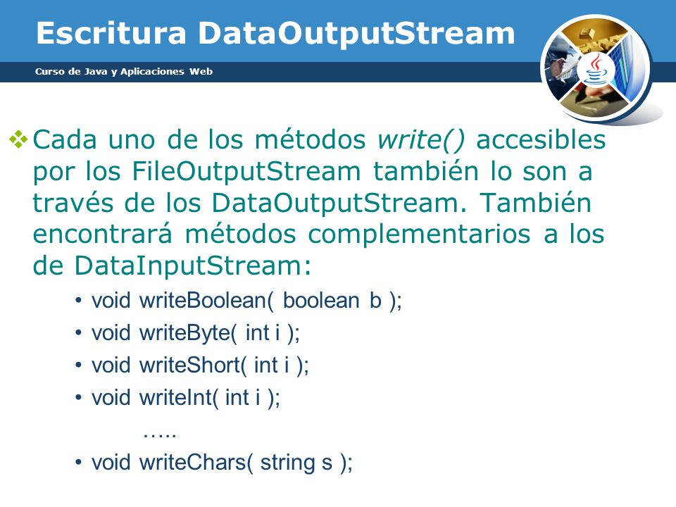 Escritura DataOutputStream