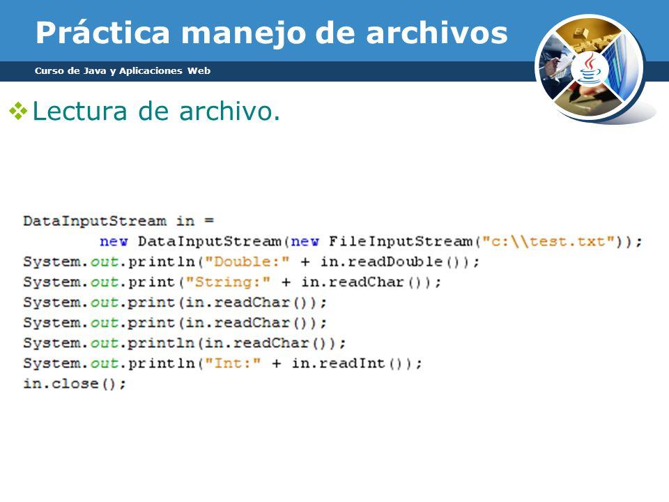 Práctica manejo de archivos