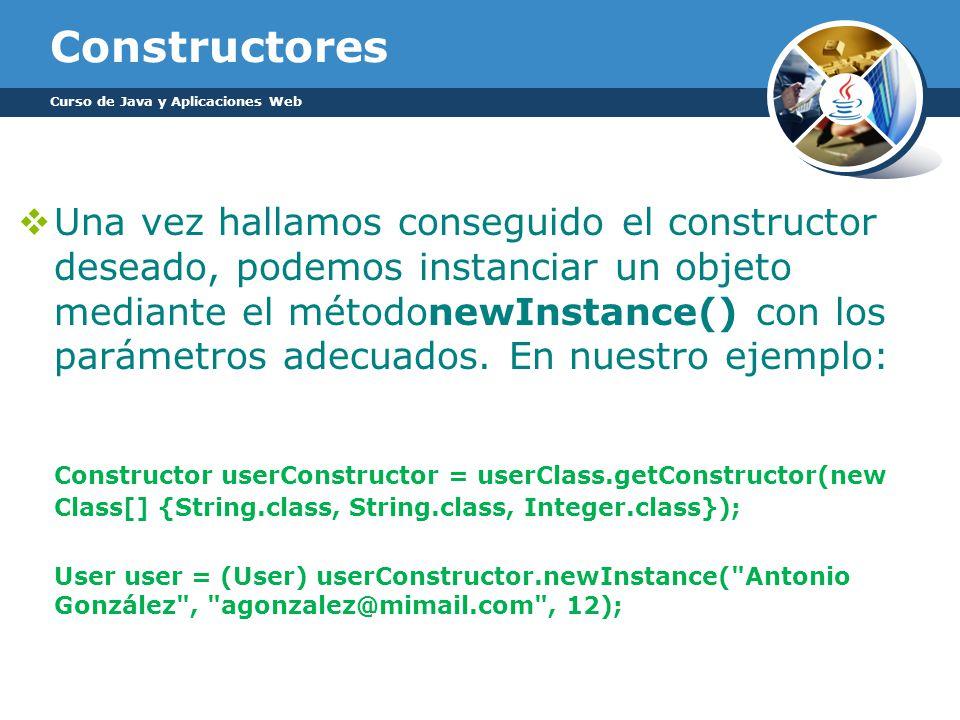 Constructores Curso de Java y Aplicaciones Web.