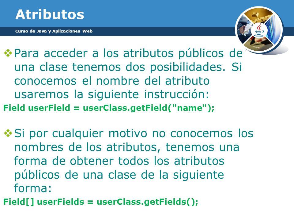 Atributos Curso de Java y Aplicaciones Web.