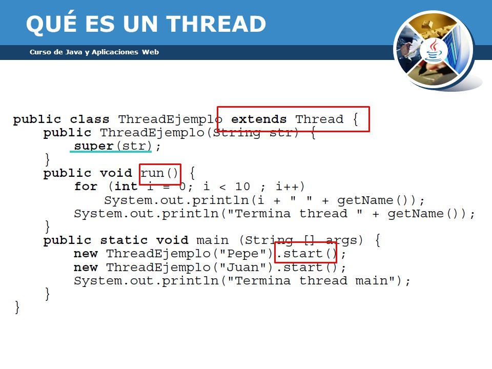 QUÉ ES UN THREAD Curso de Java y Aplicaciones Web