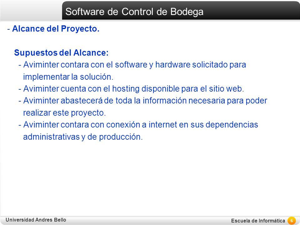 Software de Control de Bodega