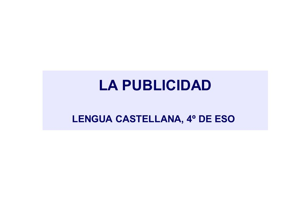 LENGUA CASTELLANA, 4º DE ESO