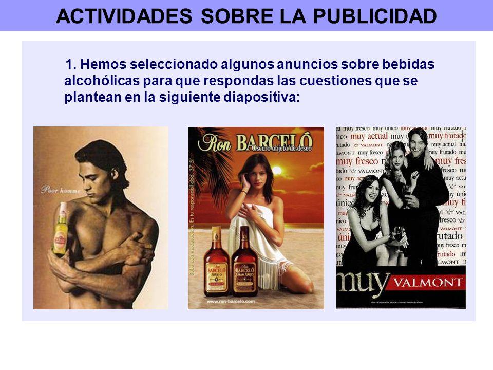 ACTIVIDADES SOBRE LA PUBLICIDAD