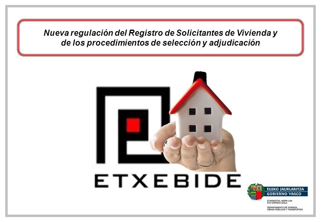 Nueva regulación del Registro de Solicitantes de Vivienda y