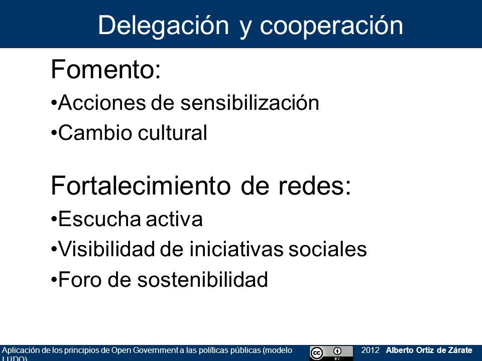Delegación y cooperación