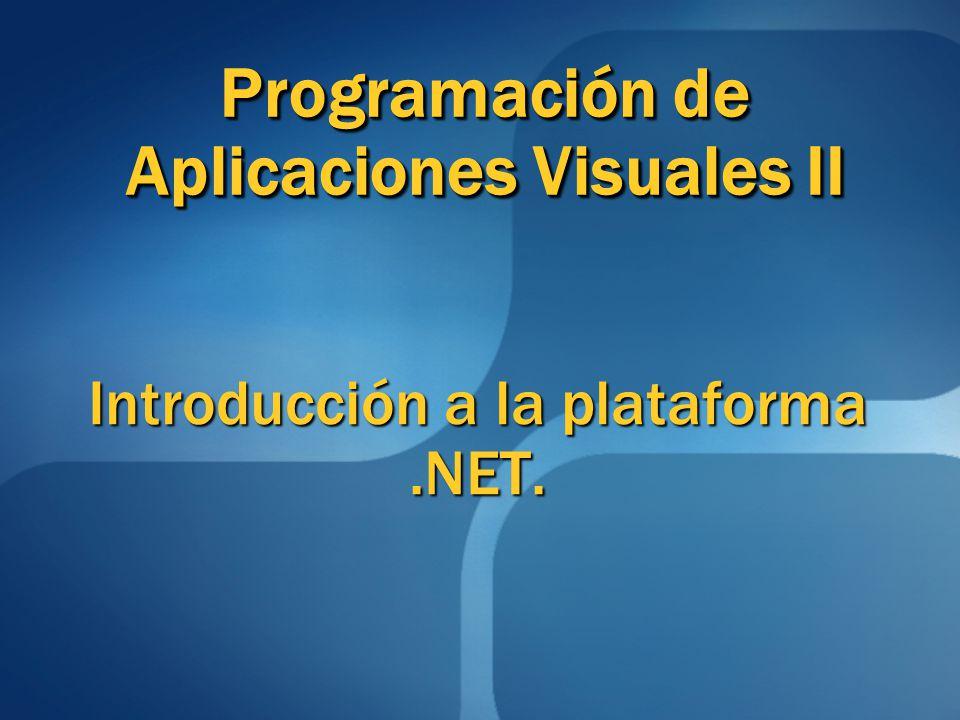 Introducción a la plataforma .NET.