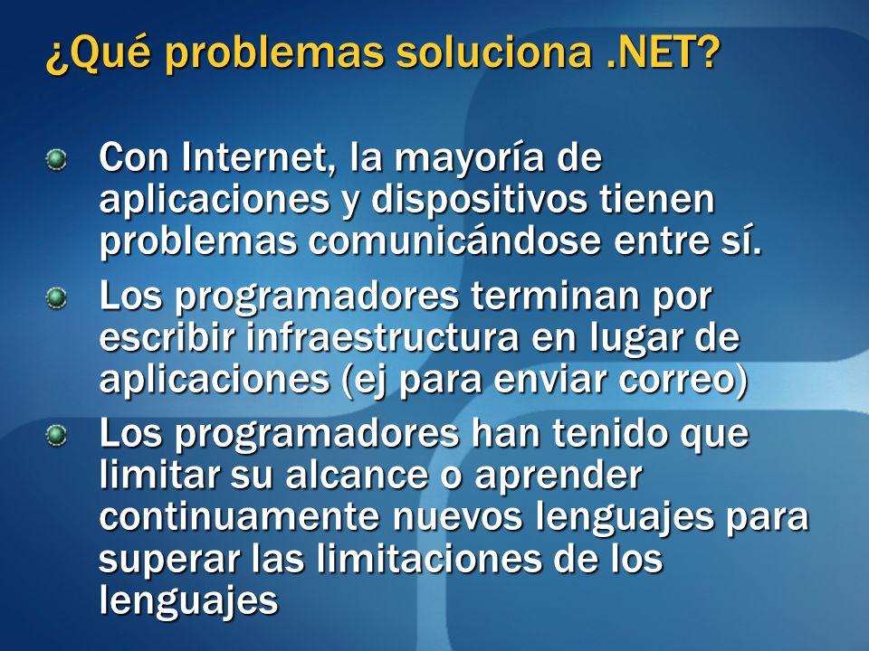 ¿Qué problemas soluciona .NET