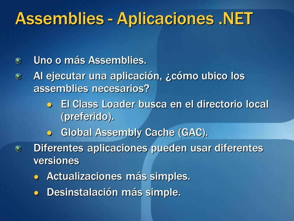 Assemblies - Aplicaciones .NET