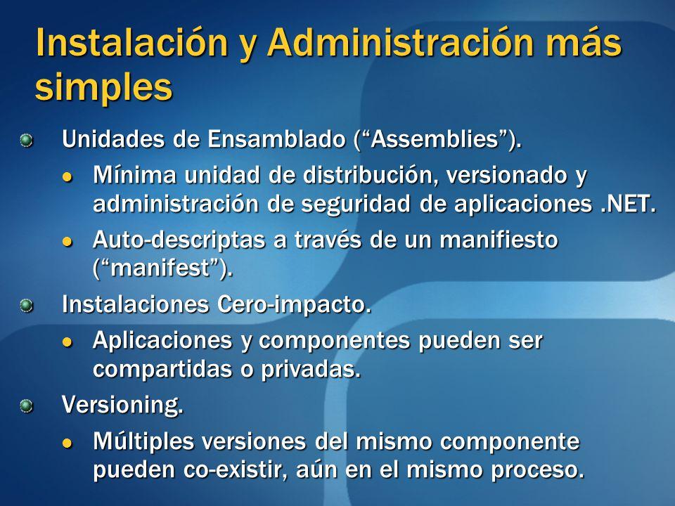 Instalación y Administración más simples
