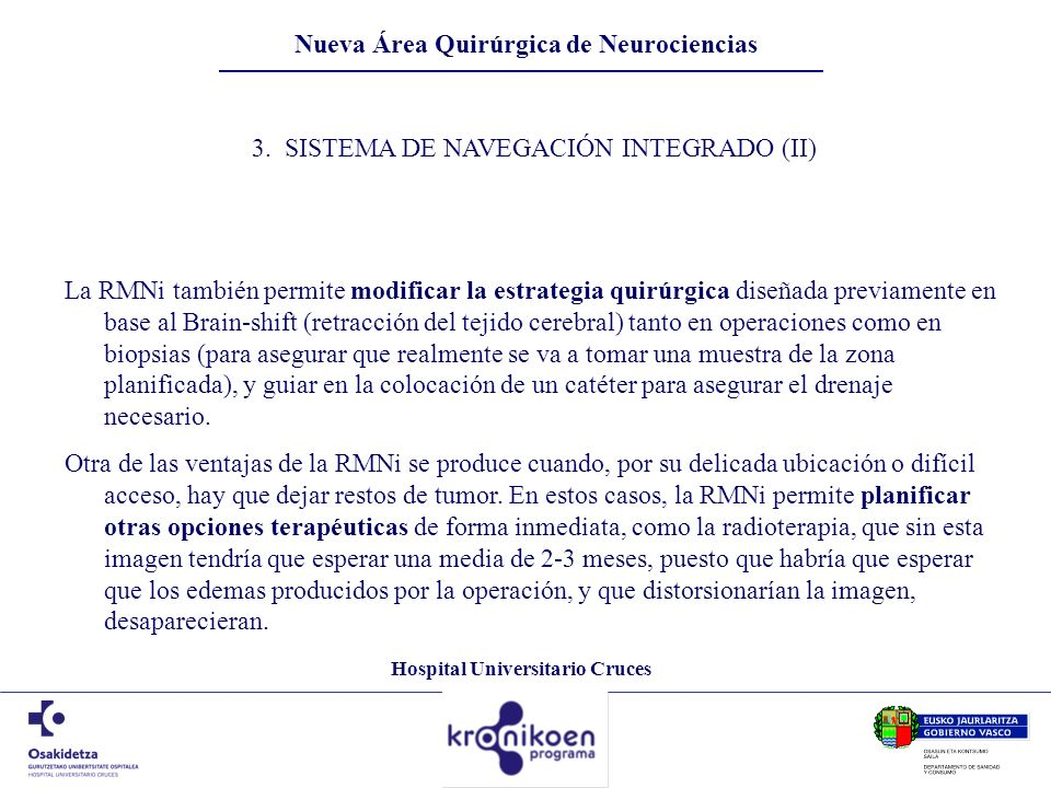 Nueva Área Quirúrgica de Neurociencias