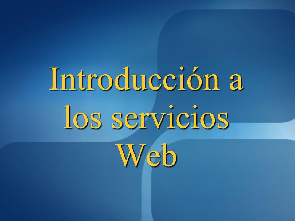 Introducción a los servicios Web