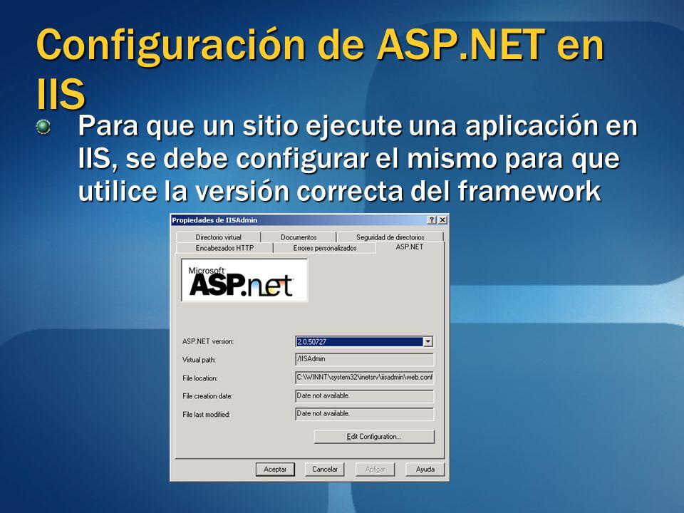 Configuración de ASP.NET en IIS