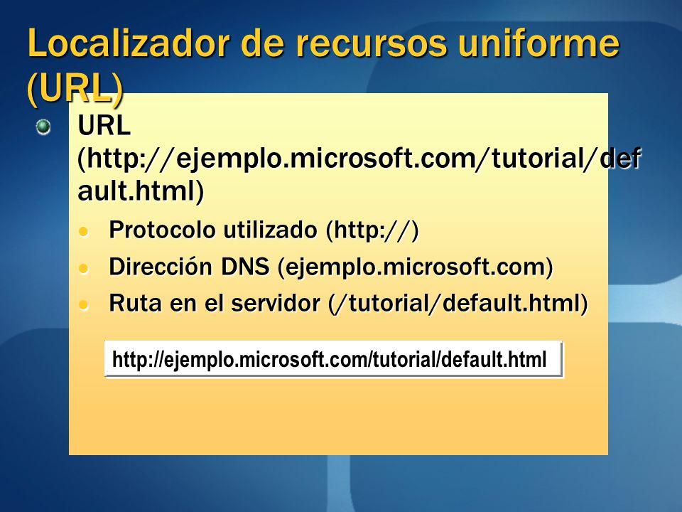 Localizador de recursos uniforme (URL)
