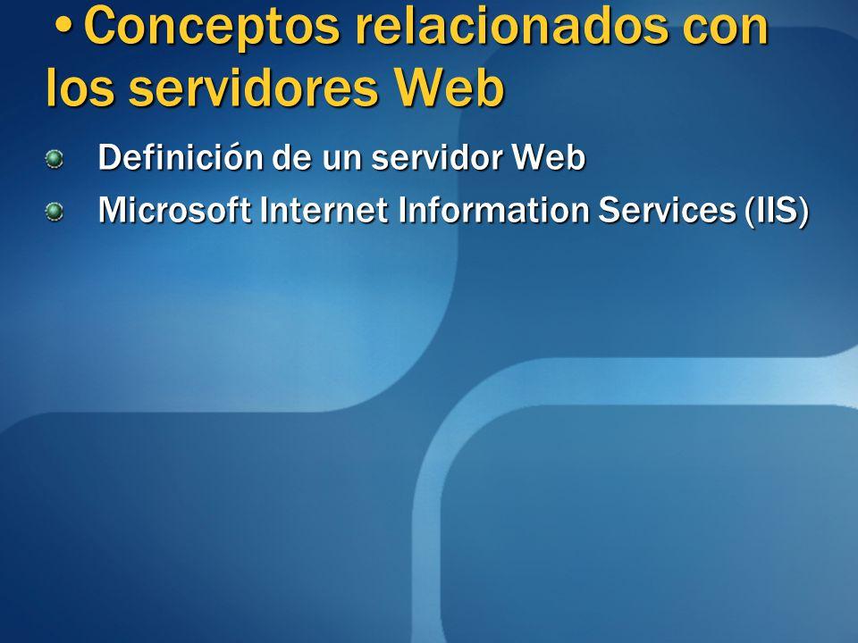 Conceptos relacionados con los servidores Web