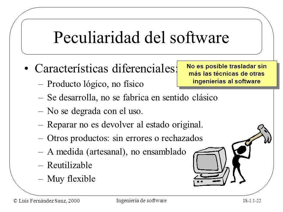 Peculiaridad del software