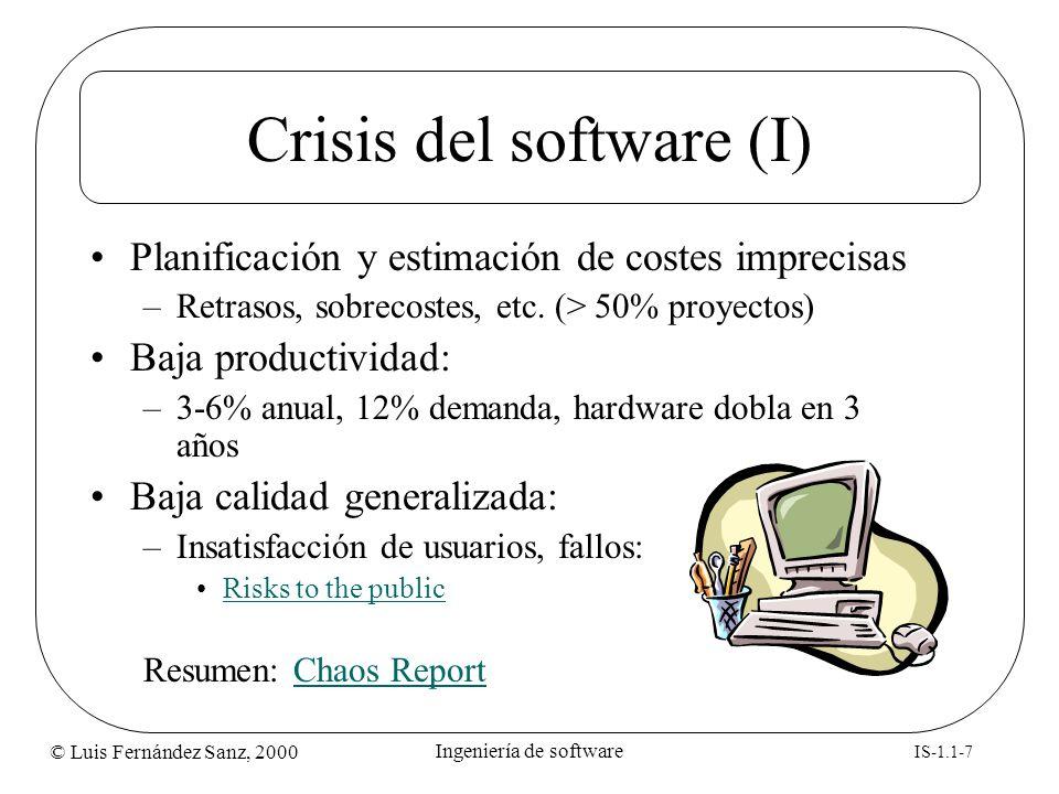 Crisis del software (I)