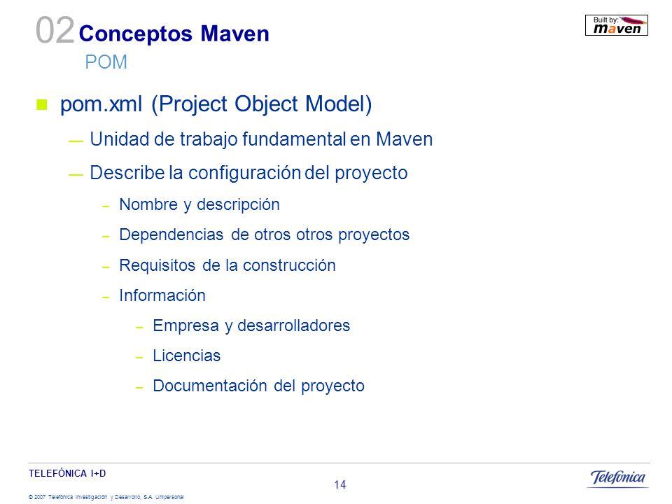 02 Conceptos Maven POM pom.xml (Project Object Model)