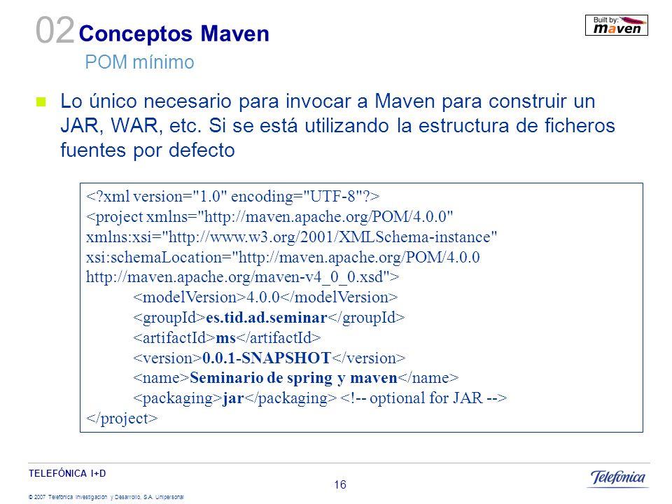 Conceptos Maven POM mínimo