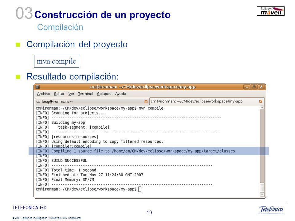 Construcción de un proyecto Compilación