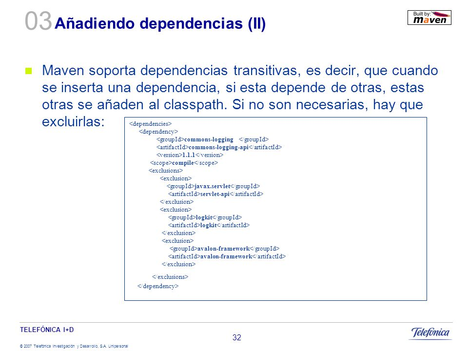 Añadiendo dependencias (II)