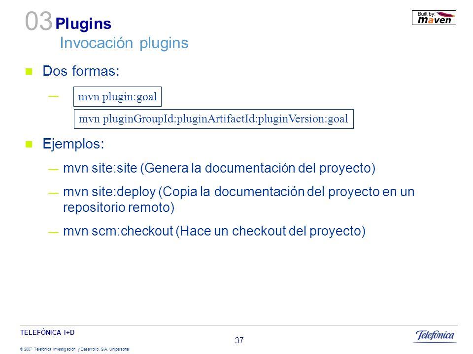 Plugins Invocación plugins