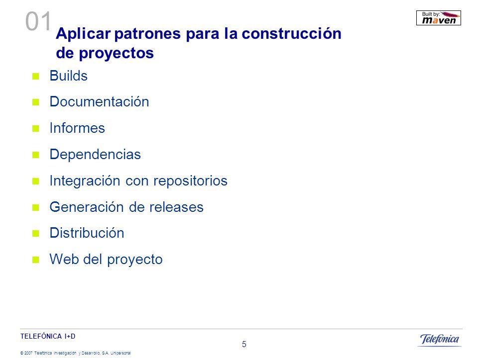 Aplicar patrones para la construcción de proyectos
