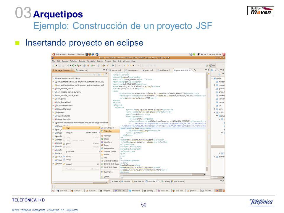 Arquetipos Ejemplo: Construcción de un proyecto JSF