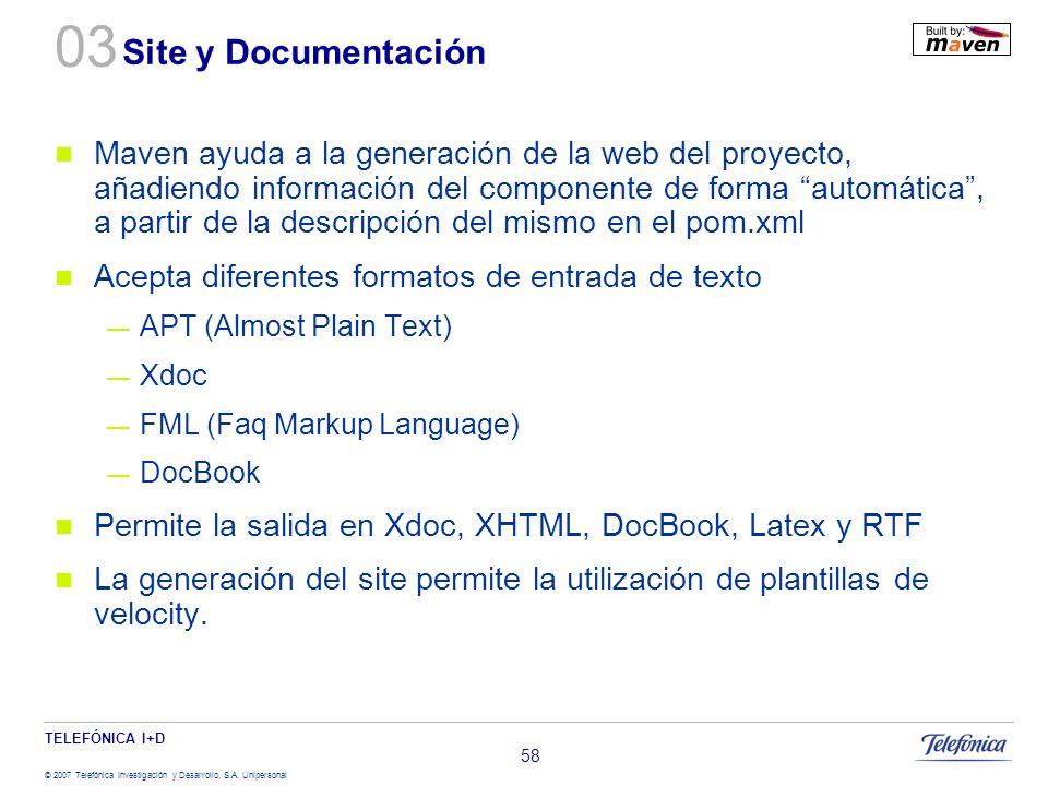 03 Site y Documentación.
