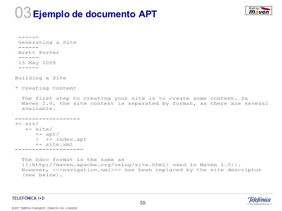 Ejemplo de documento APT