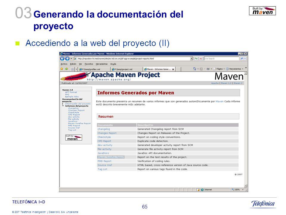 Generando la documentación del proyecto